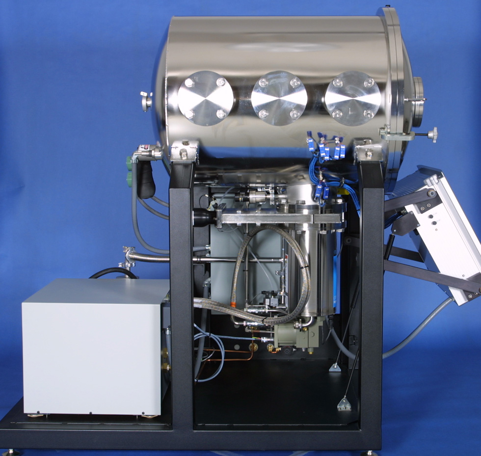DVI Model 2600 Thermal Vacuum Test System - Side View, Controls Up